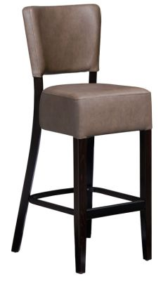 Rosie V3 High Stool In Distressed Bark Leather