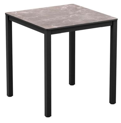 Geo Outdoor Square Table With A Marble Hpl Top