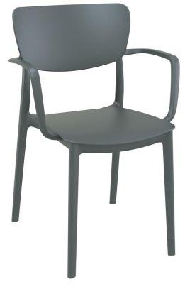 Remona Armchair In Dark Grey