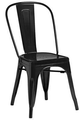 Tolix Outdoor Side Chair In Black
