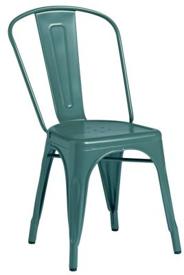 Tolix Outdoor Side Chair In Blue