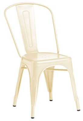 Tolix Outdoor Side Chair In Cream