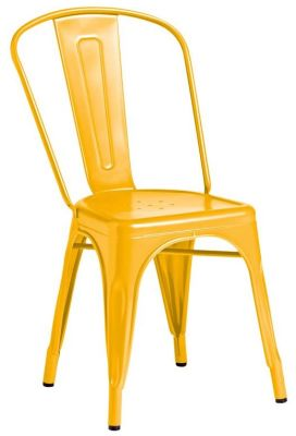 Tolix Outdoor Side Chair In Yelllow