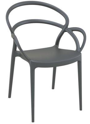 Risolo Plastic Chairs In Dark Grey