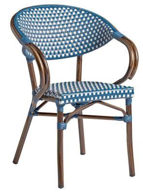 Bibat Outdoor Weave Armchair Blue & White