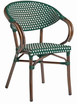 Bibat Chair In Green & White