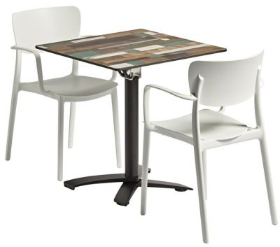 Remona Two Person Dining Set With Two Armchairs