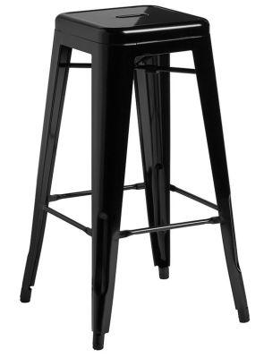 Toledo Tolix Chair In Gloss Black