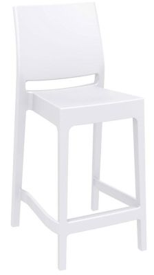 Avay Mid Height Bar Stool In White