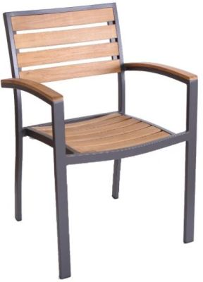 Vola Outdoor Teak Armchair With An Anthracite Frame