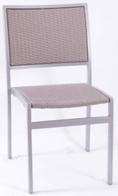 Vola Outdoor Side Chair With A Light Taupe Weave