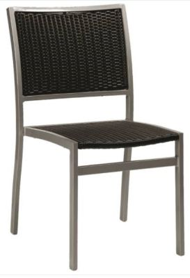 Vola Outdoor Side Chair With Black Weave