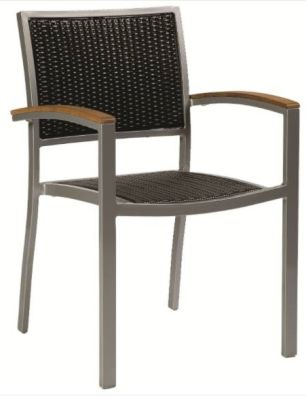 Vola Outdoor Weave Armchair With A Black Weave