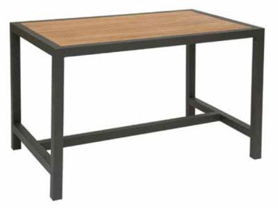 Brewster Rectangular Outdoor Table Witha Dark Grey Frame