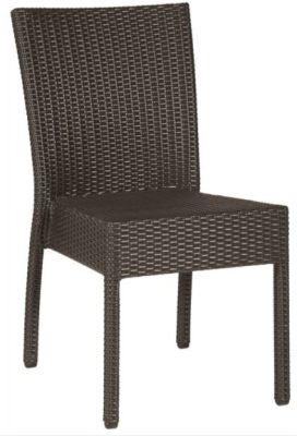 Bollo Stackable Outdoor Weave Side Chair In Java Weave