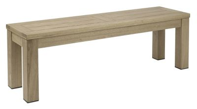 Deano Outdoor Wooden Bench Weathered Finish