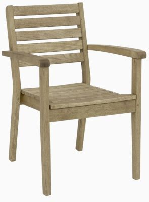 Deano Outdoor Armchair In A Weathered Finish