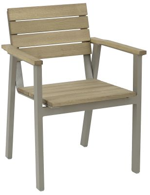 Drone Stackable Outdoor Armchair Weathered Finish