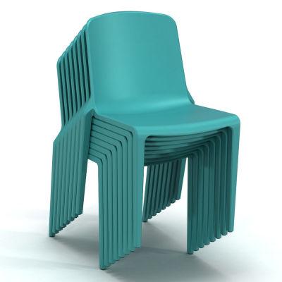 Hatton Chair - Aqua Blue - 8 Stack