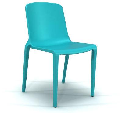 Hatton Stacking Chair - Aqua Blue