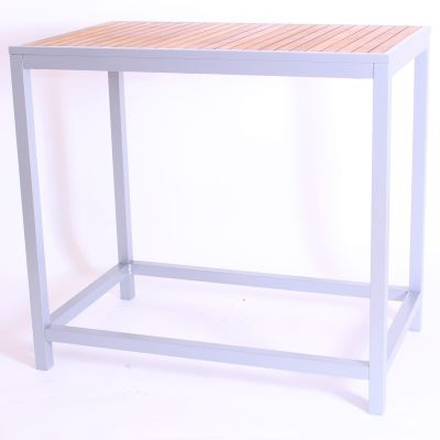 Brewer Bar Height Table With A Silver Frame
