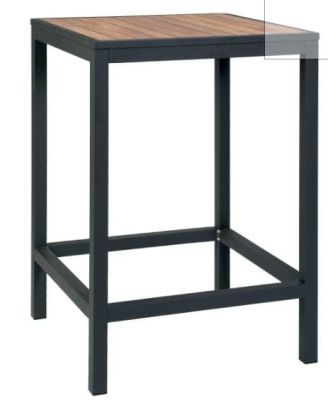 Brewer Bar Height Square Table With An Anthracite Frame