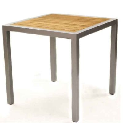 Brewer Outdoor Table With A Silver Frame