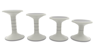 3 - Wobble Stools - Ash Grey - All Heights