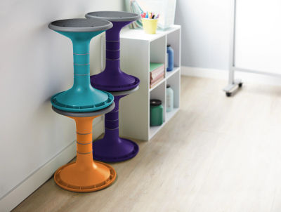 7 - Wobble Stools - Stacked In Classroom