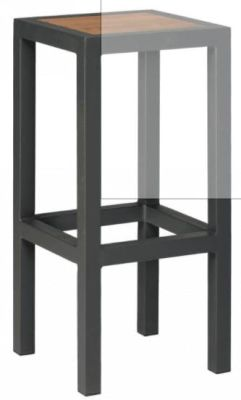 Brewer High Stool With A Antharcite Frame