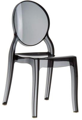 Elizabeth Side Chair Black Transparent