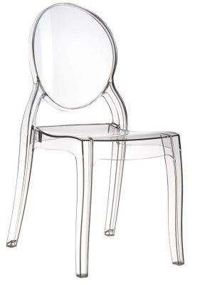Elizabeth Side Chair Clear Transparent