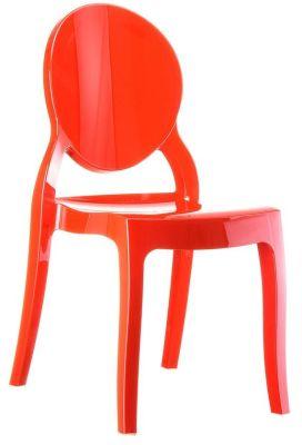Elizabeth Side Chair In Glossy Red