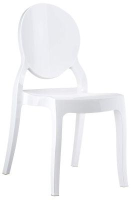 Elizabeth Side Chair In Glossy White