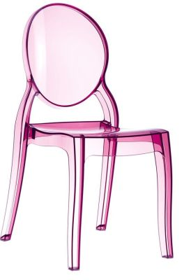 Elizabethe Chair In Pink Transparent