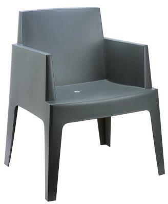 Gregor Box Chair In Dark Grey