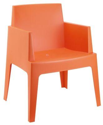 Gregor Box Chair In Orange