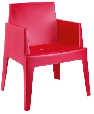 Gregor Box Chair In Red