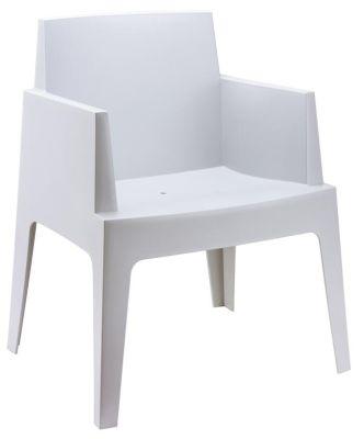 Gregor Box Chair In Silver Grey