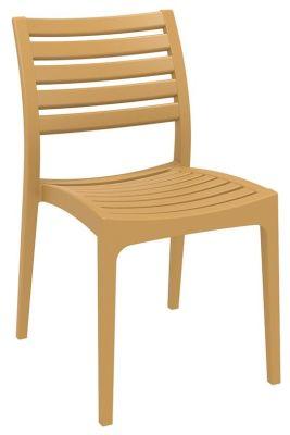 Stuart Outdoor Side Chair In Teak Colour