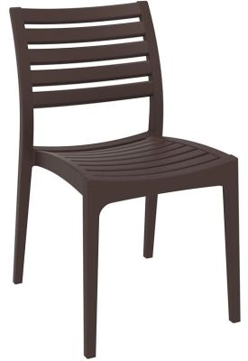 Stuart Stackable Side Chair In Brown