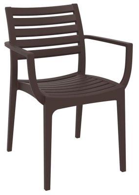 Stuart Outdoor Armchair In Brown