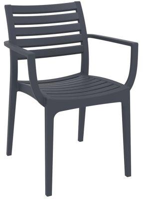 Stuart Outdoor Armchair In Dark Grey