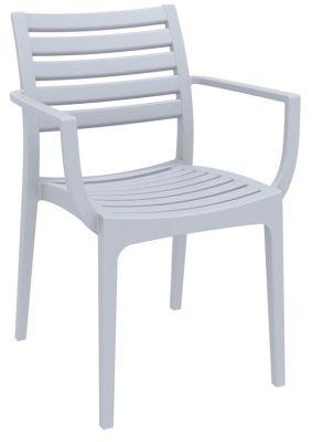 Stuart Outdoor Armchair In Silver Grey