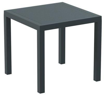 Stuart Square Outdoor Table In Dark Grey