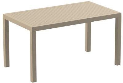 Stuart Outdoor Plastic Rectangular Table In Taupe