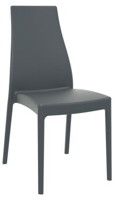 Mabell Outdoor Side Chair In Dark Grey