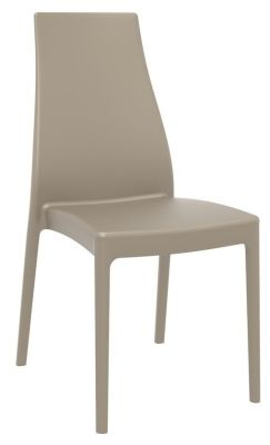 Mabell Outdoor Side Chair In Taupe