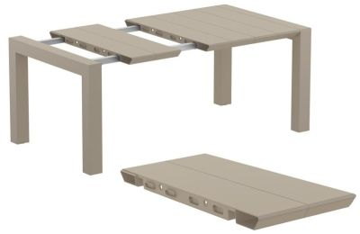 Konvey Outdoor Extendable Table In Taupe