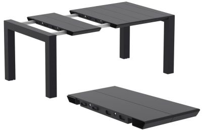 Kponvey Outdoor Extendable Table In Black